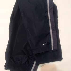 Vintage NIKE boys windpants blue/zip off @sides